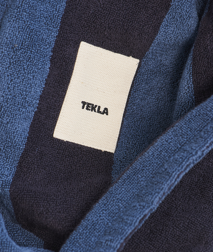 Tekla Terry Bathrobe - Dusty Navy