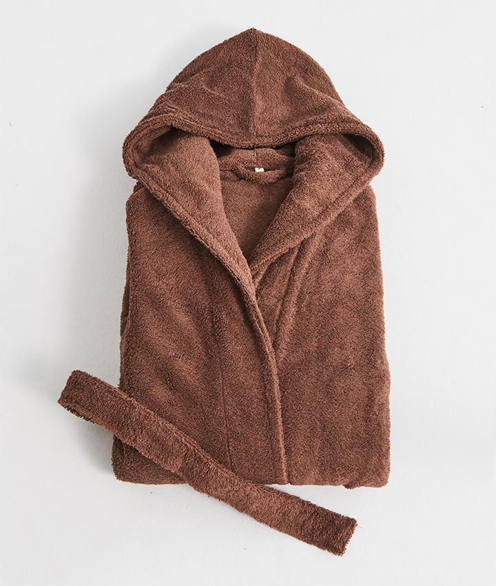 Tekla Terry Bathrobe - Kodiak Brown