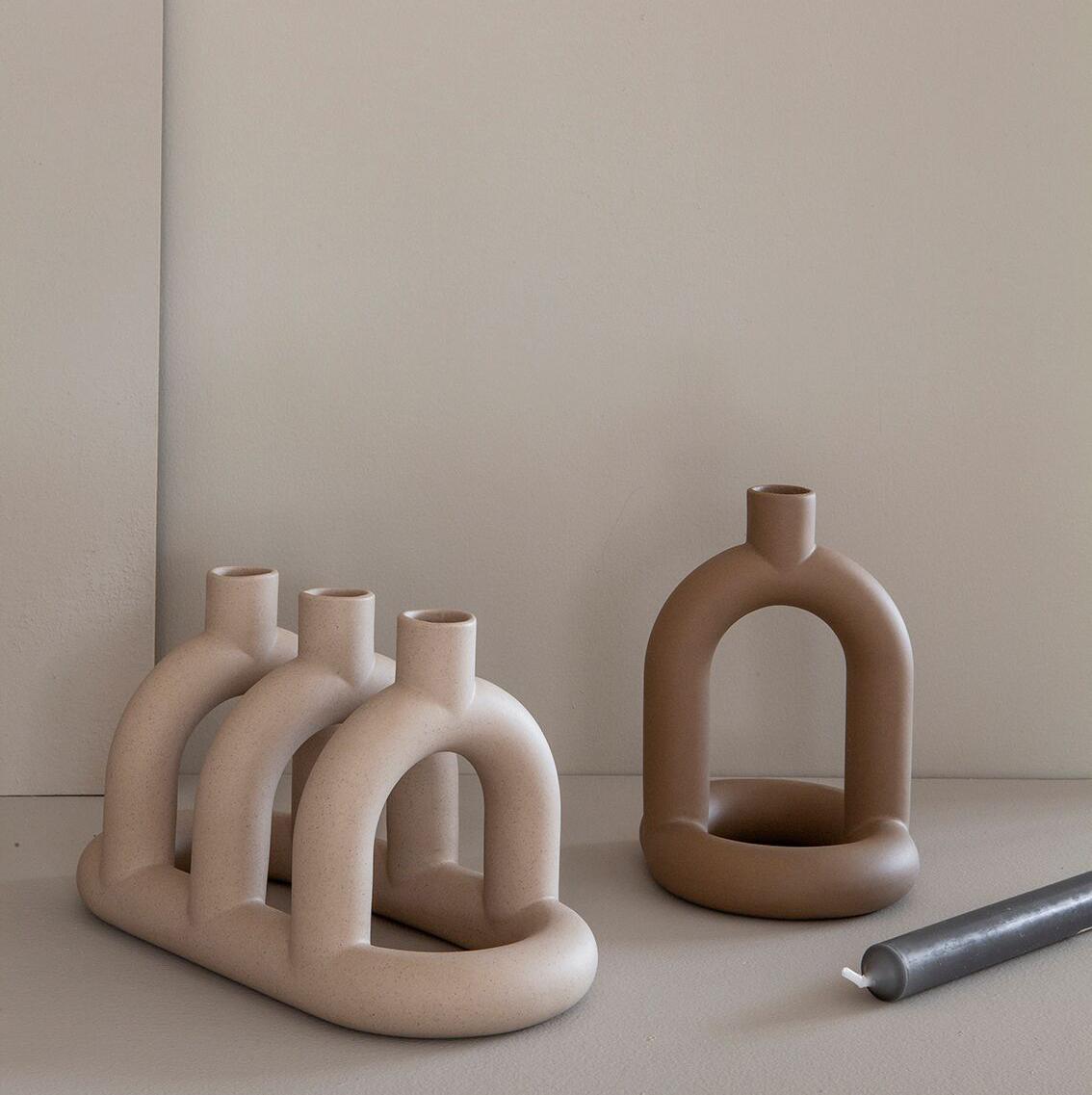 Noidoi Kapp Candleholder 3 / Sand