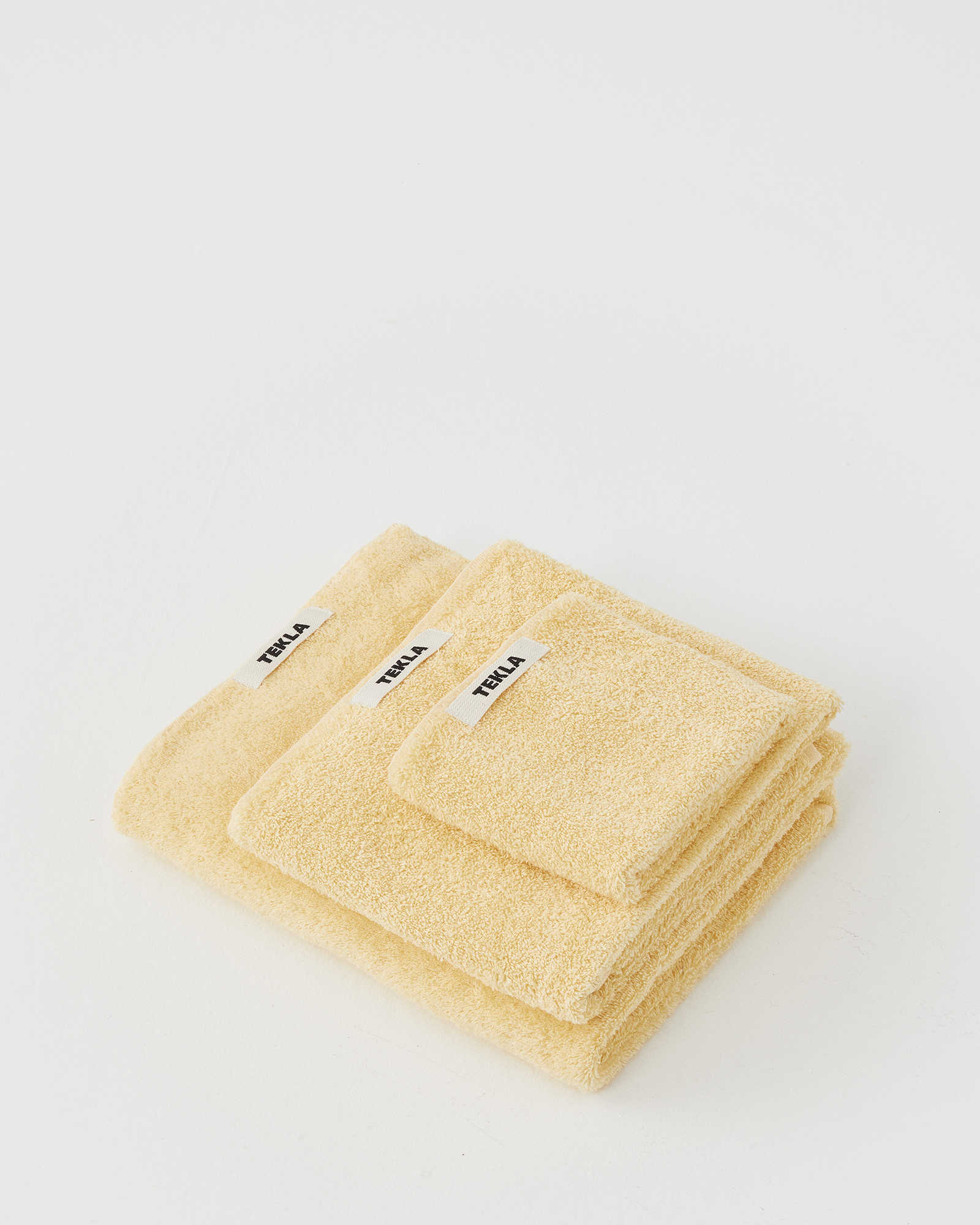 Tekla Organic Terry Towel - Tender Yellow