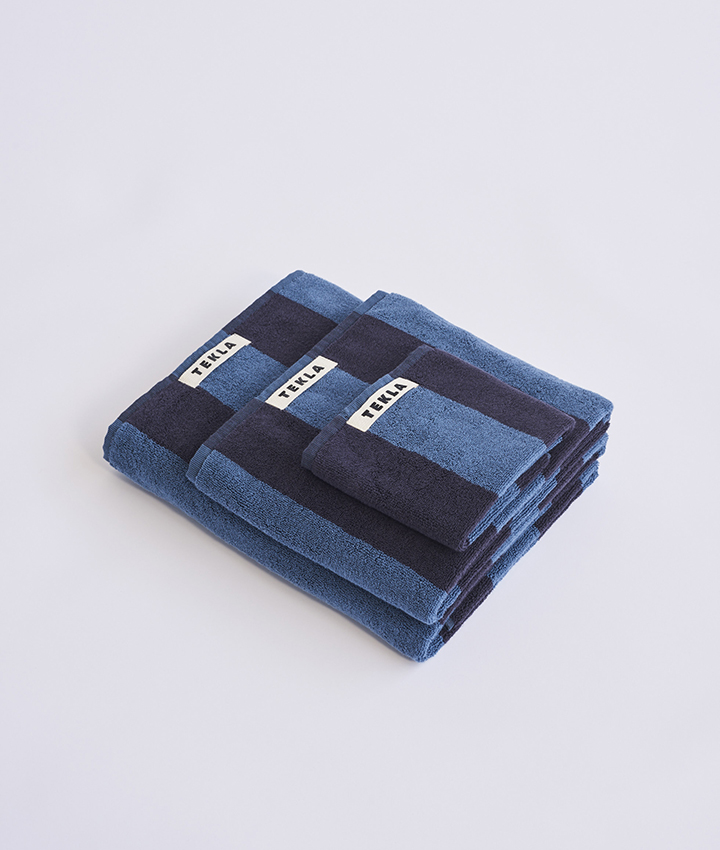Tekla Organic Terry Towel - Dusty Navy