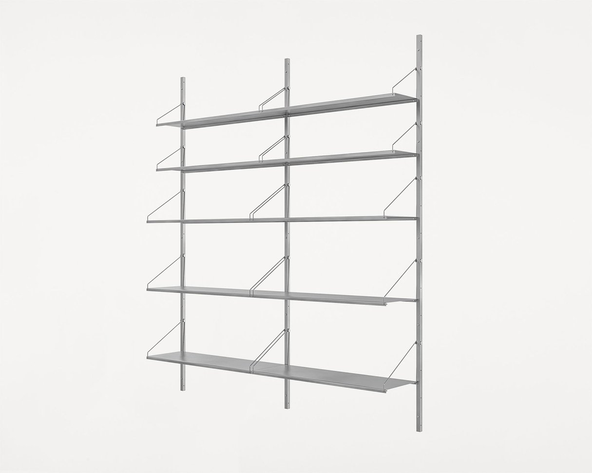 Frama Shelf Library Stainless Steel / H185,2 / Double Section