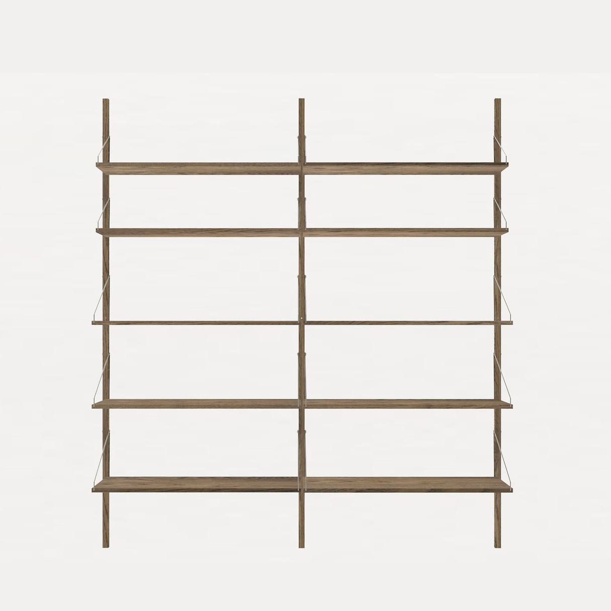 Frama Shelf Library Dark Oak H1185 / Double section