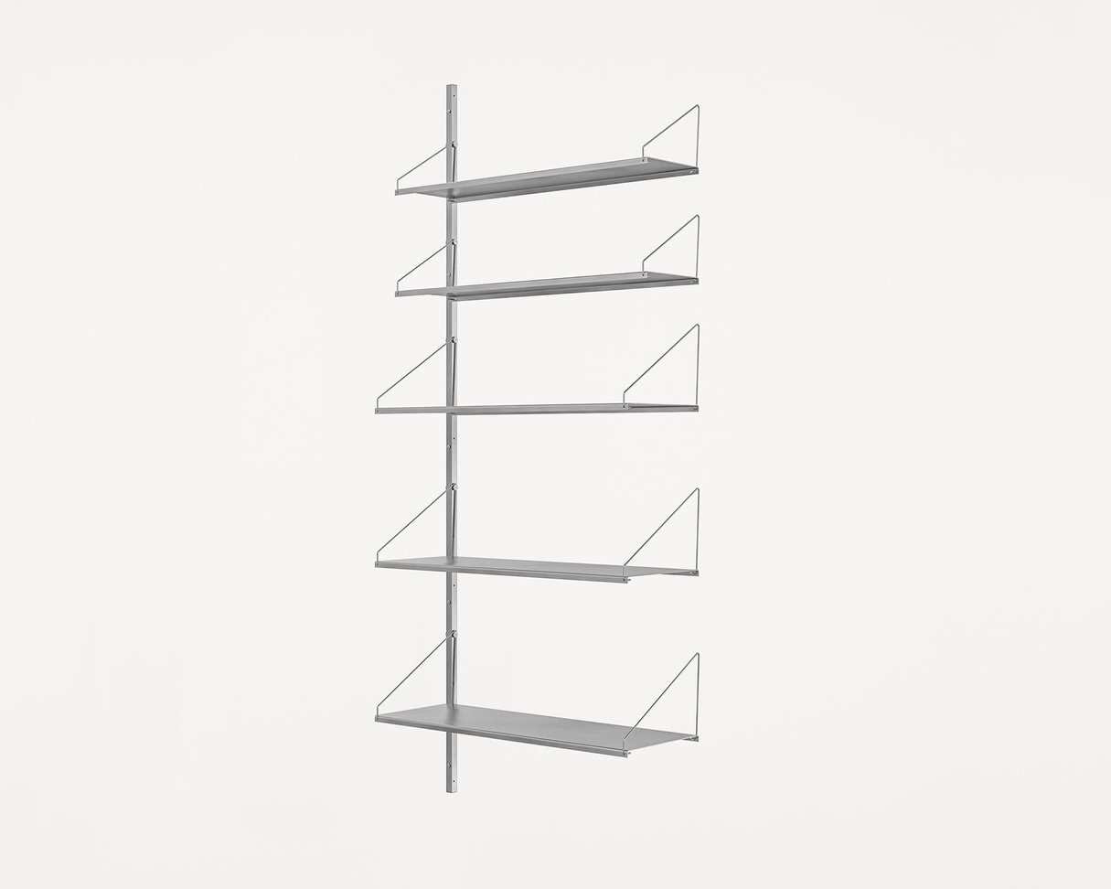 Frama Shelf Library Stainless Steel / H185,2 / W80 Section Add-on