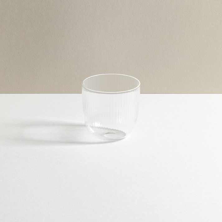 R+D Lab Tuccio Tumbler Glass Clear Millerighe
