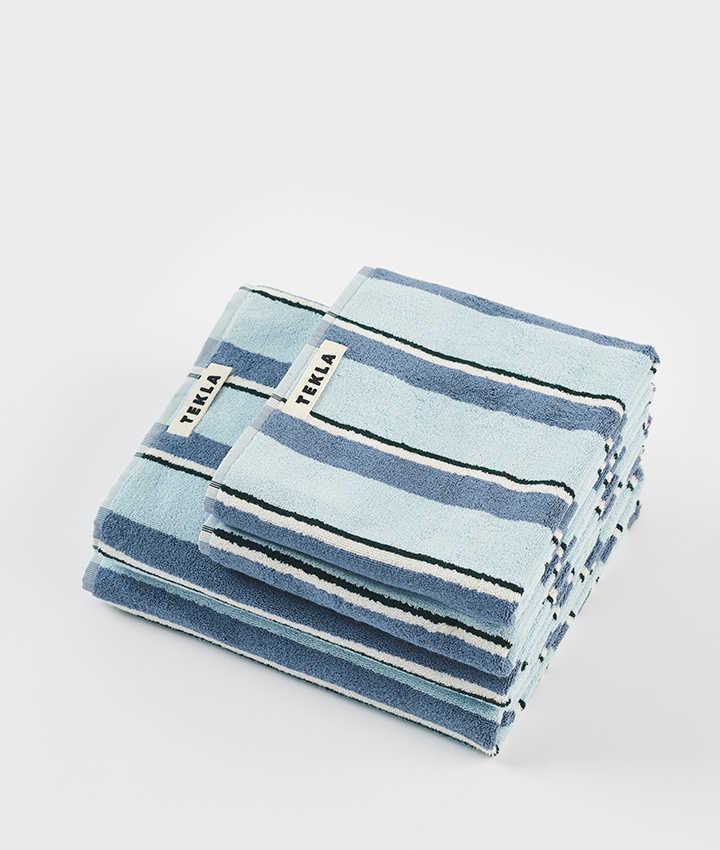 Tekla Organic Terry Towel - Seventies Blue