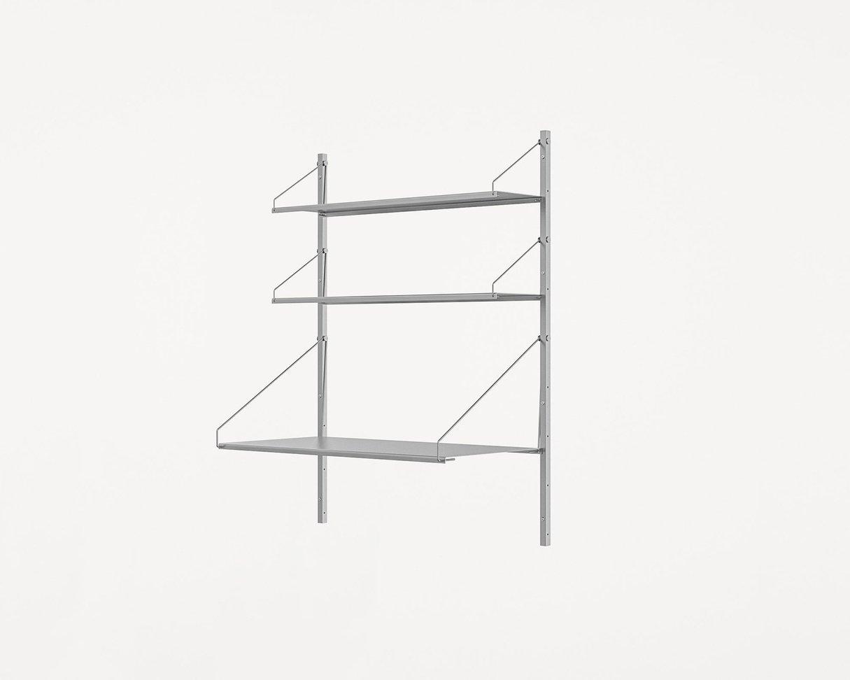 Frama Shelf Library Stainless Steel / H108,4 / Desk Section