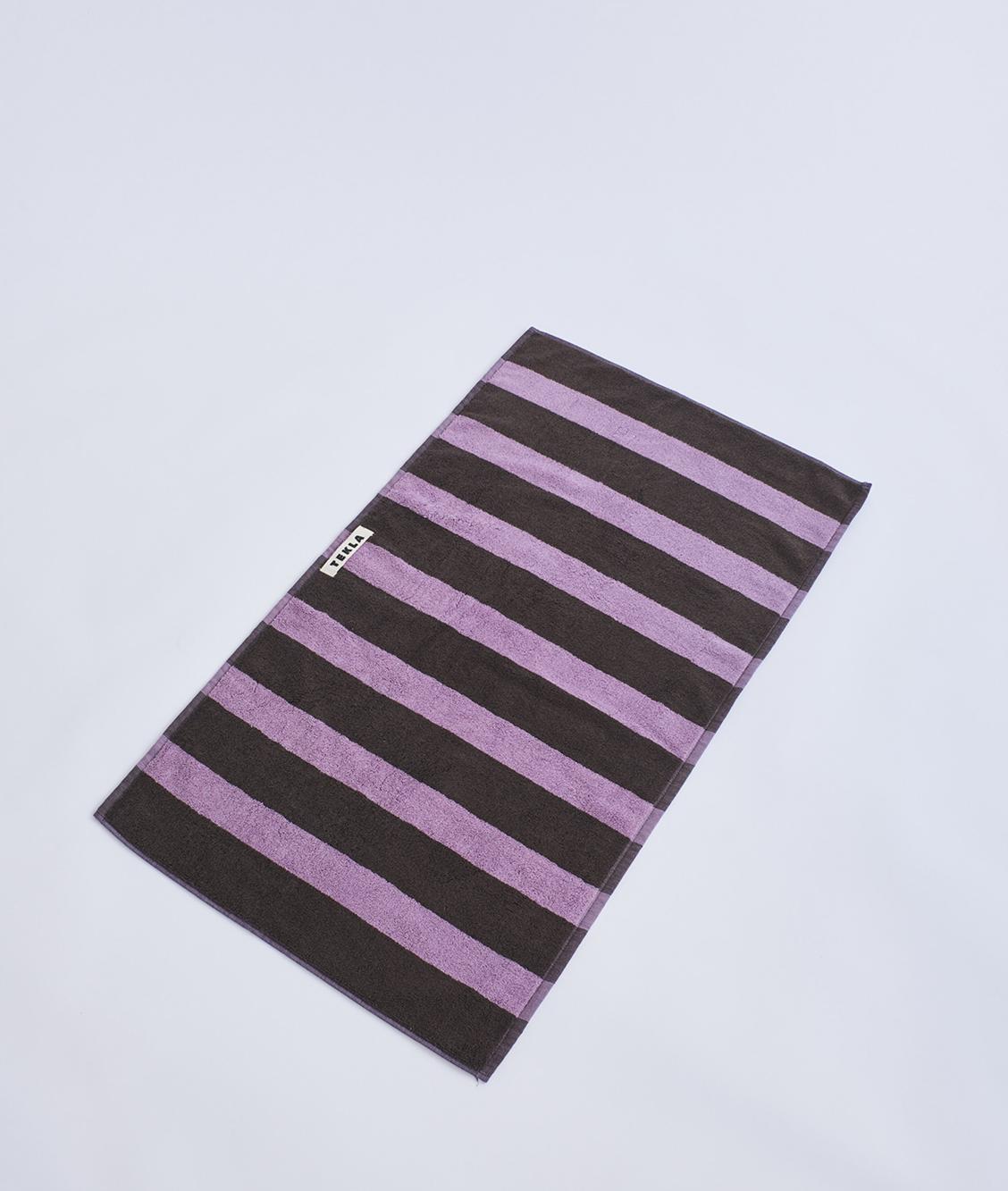 Tekla Organic Terry Towel - Purple Brown