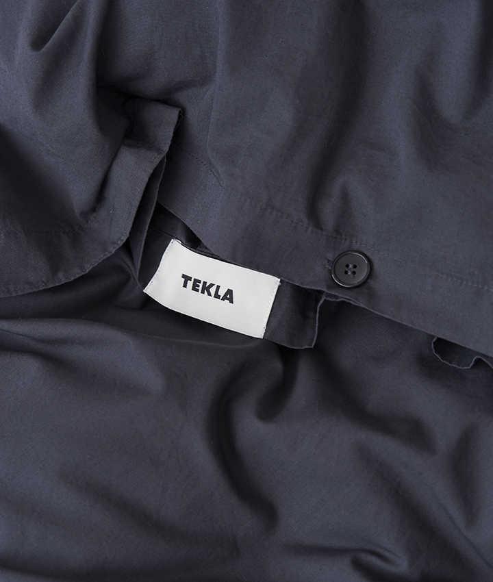 Tekla Duvet Cover Cotton 200 cm - Ash Black