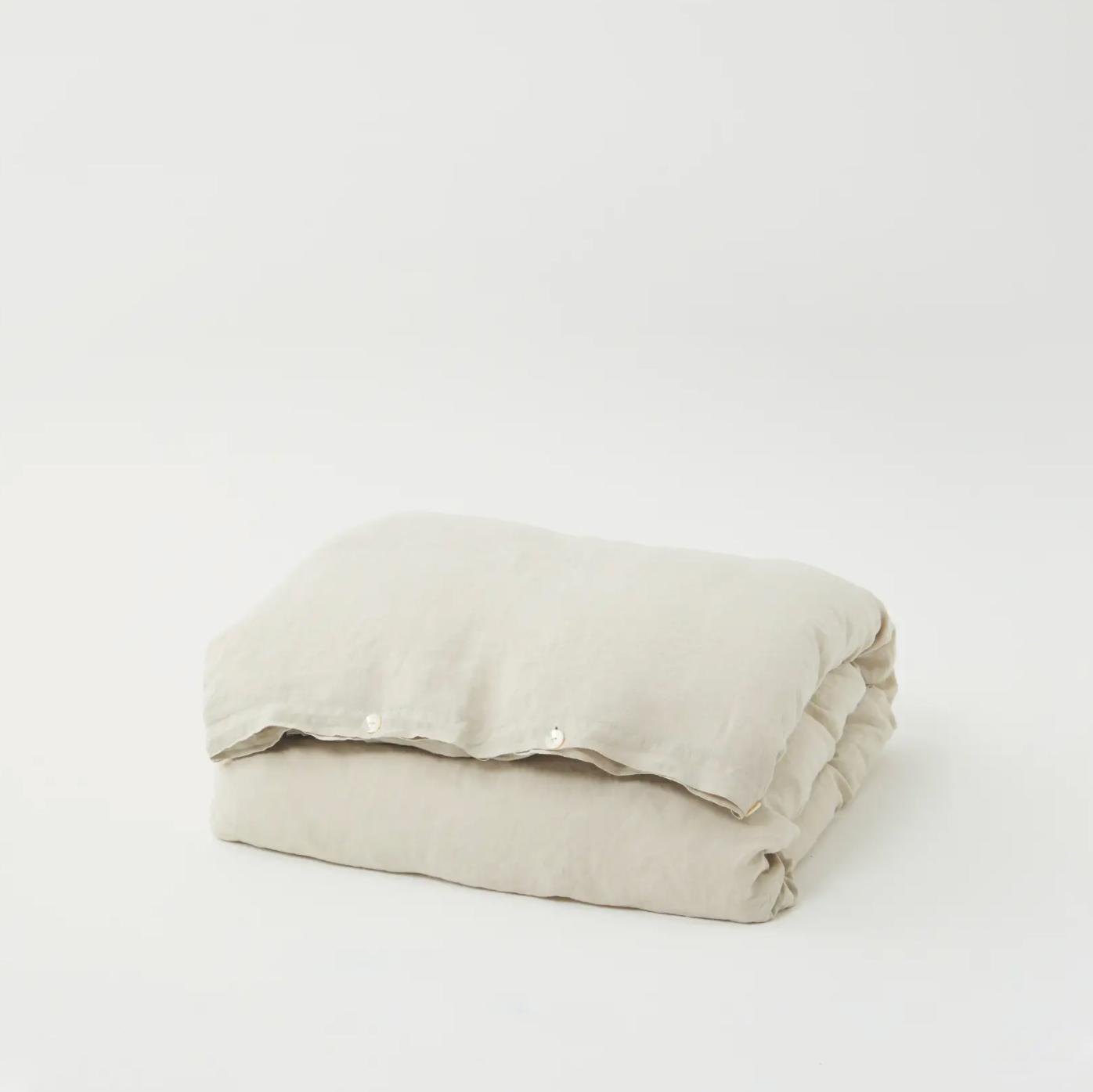Tekla Linen Bedding - Sand Grey