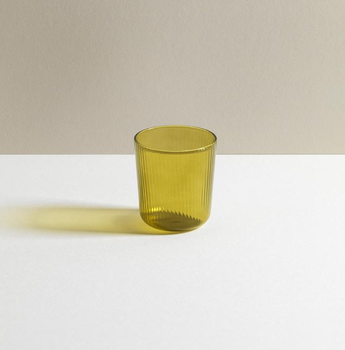R+D Lab Luisa Tinto Vino Glass Citrine Green