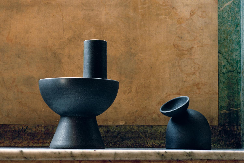 Origin made / Charred Vases