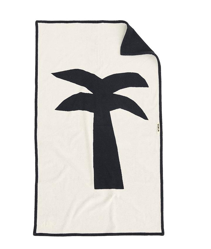 Tekla Organic Beach Towel Palm