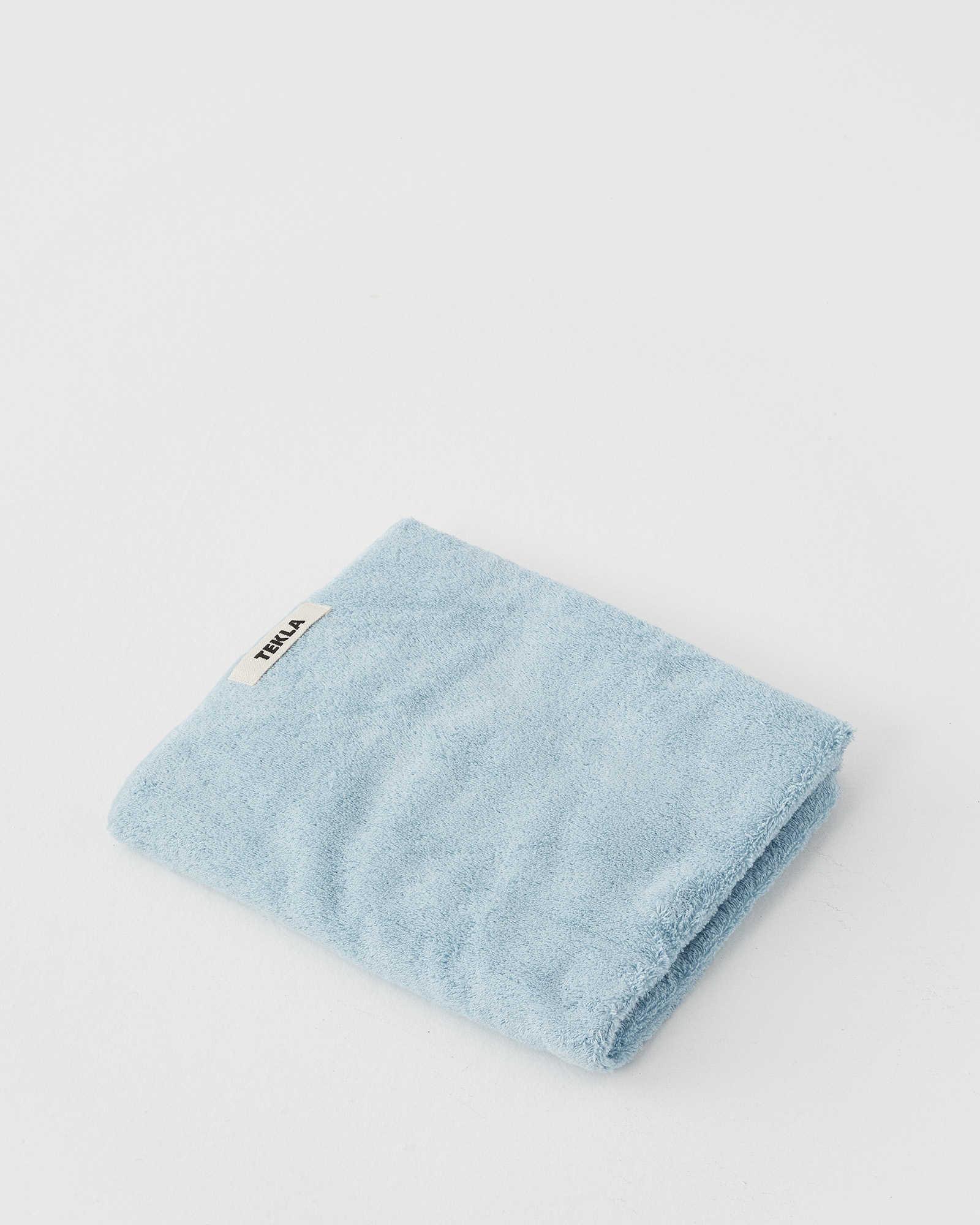 Tekla Organic Terry Towel - Aqua