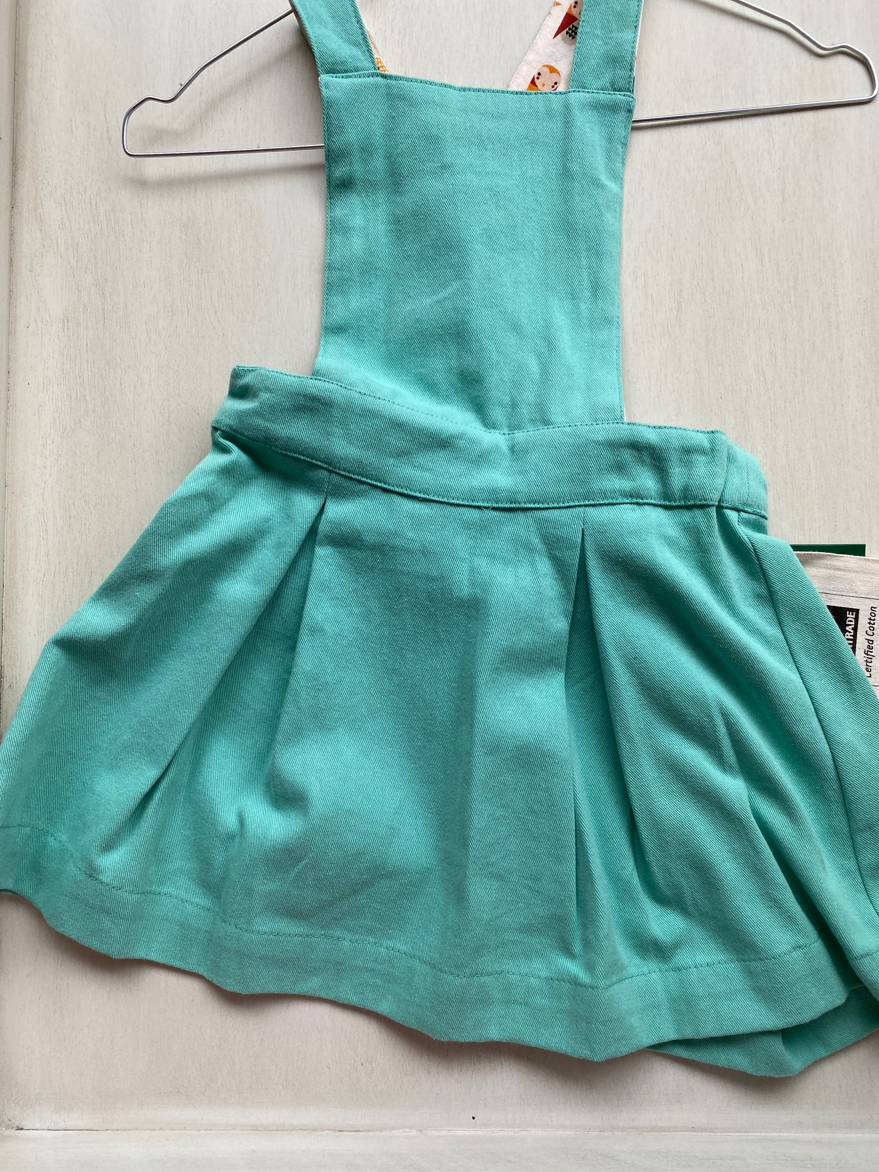 Sale -  pinafore dress - pale turquoise - 18-24 months