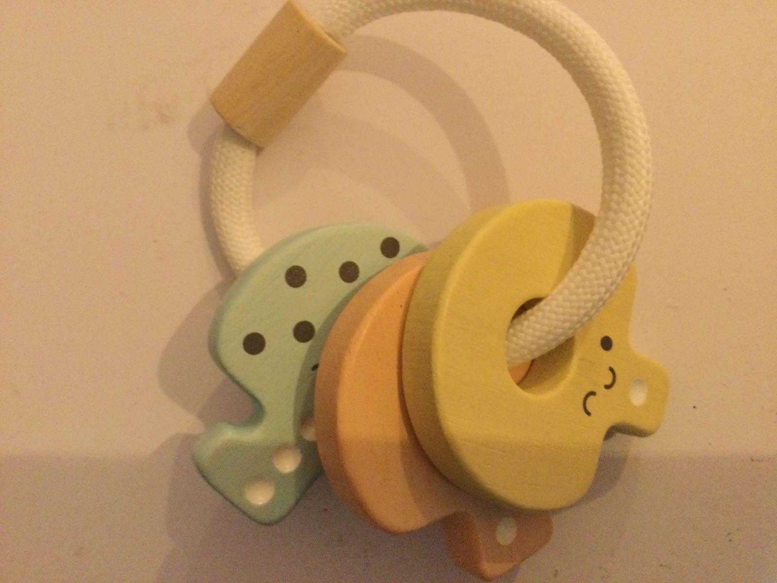 Plan toys - Key Rattle -Pastel