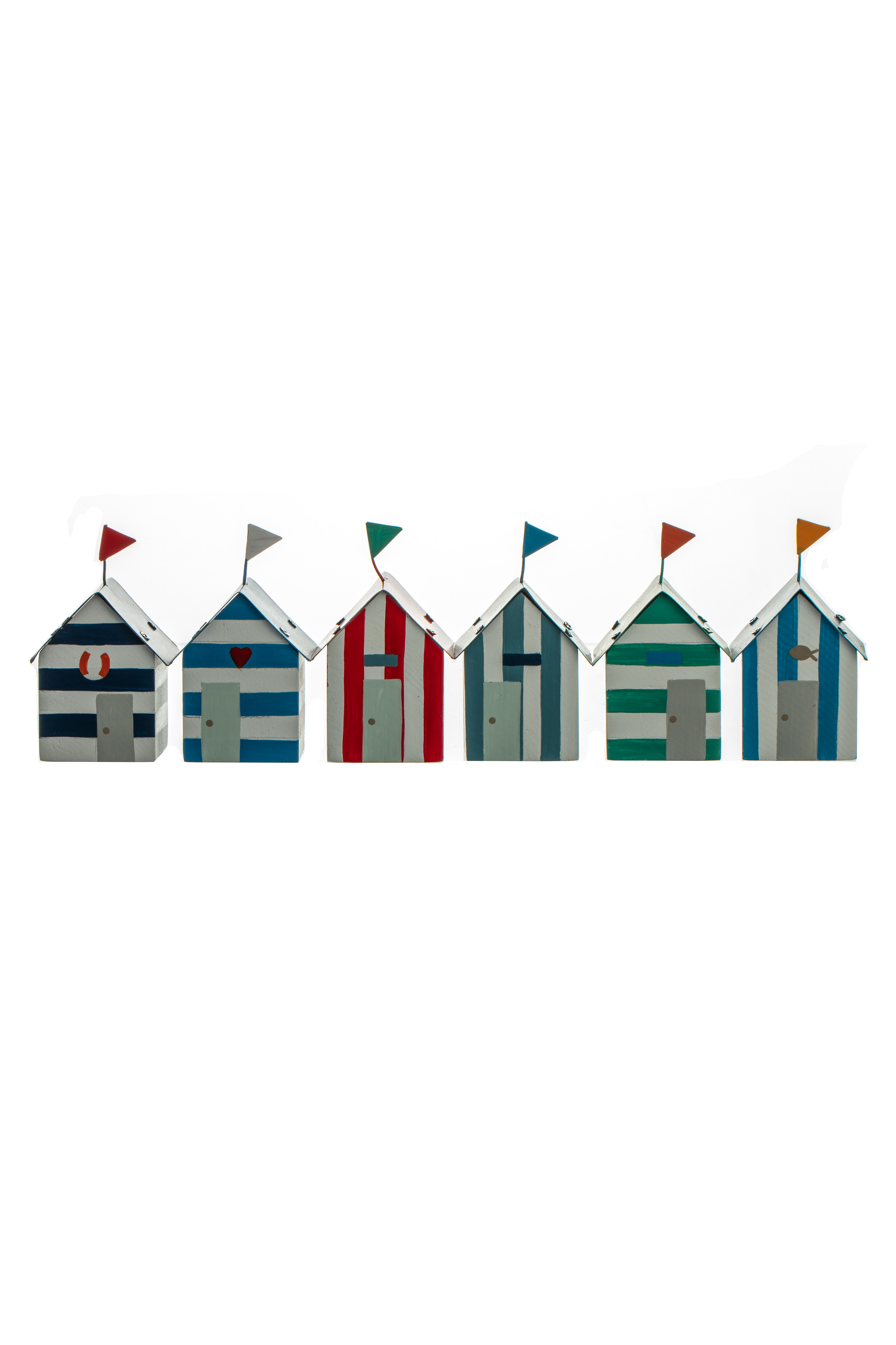 Tiny beach huts