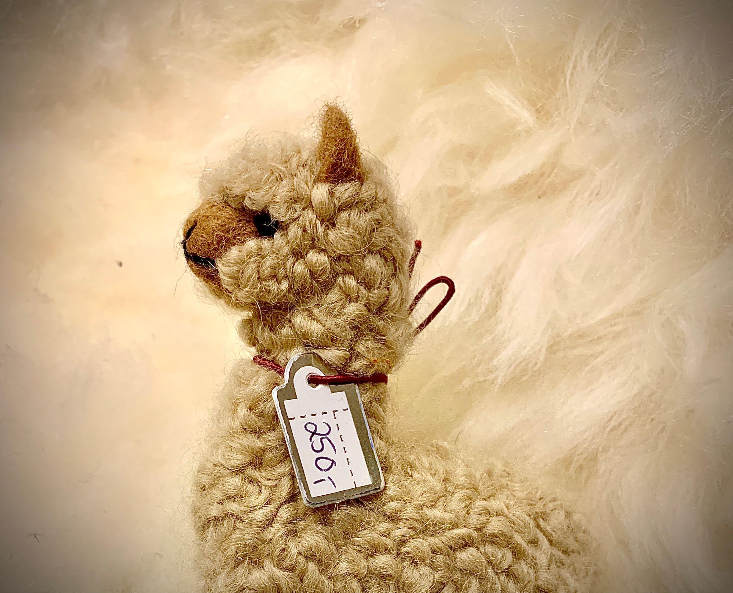 Alpakka, nålefiltet, beige