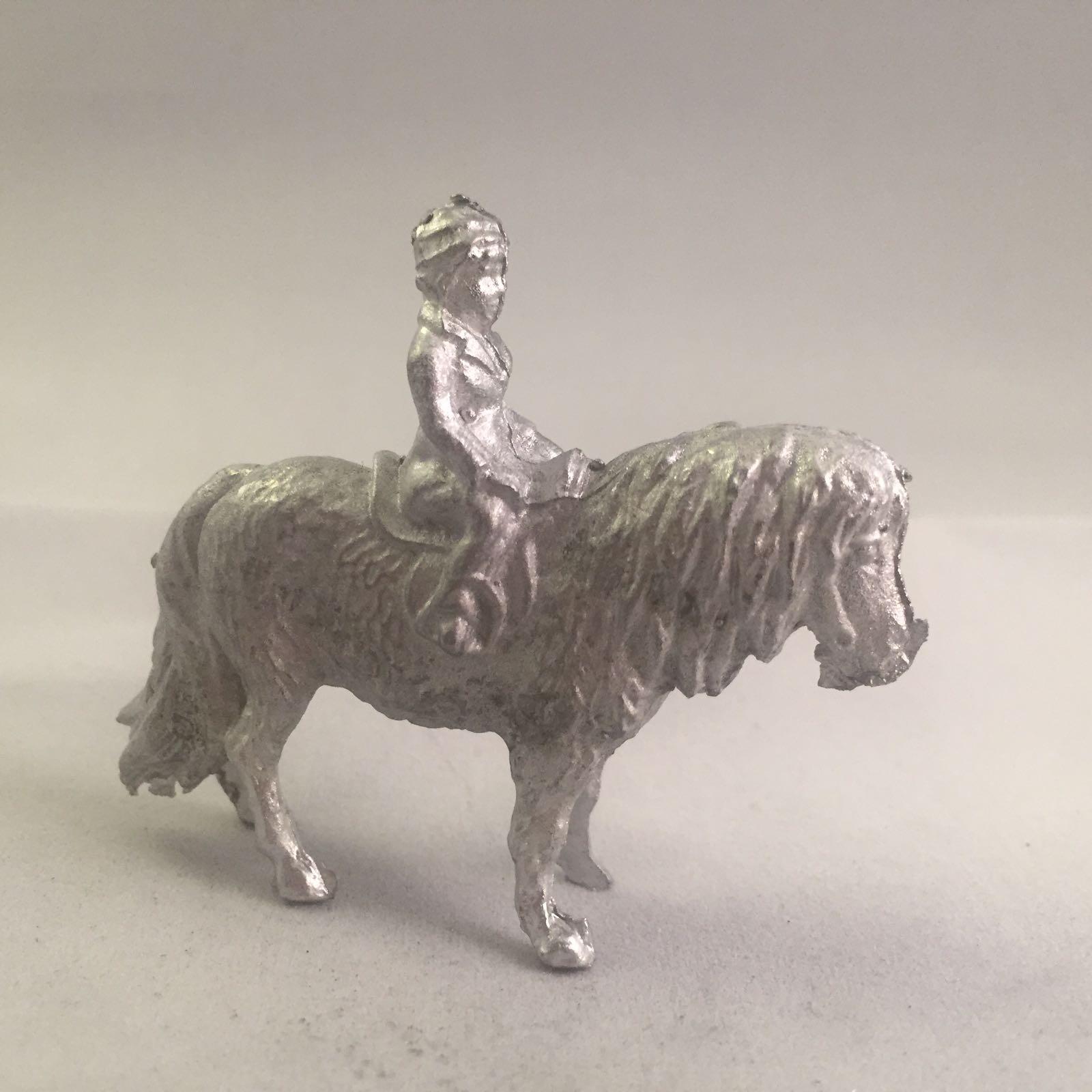 B56. Child in Shetland Pony