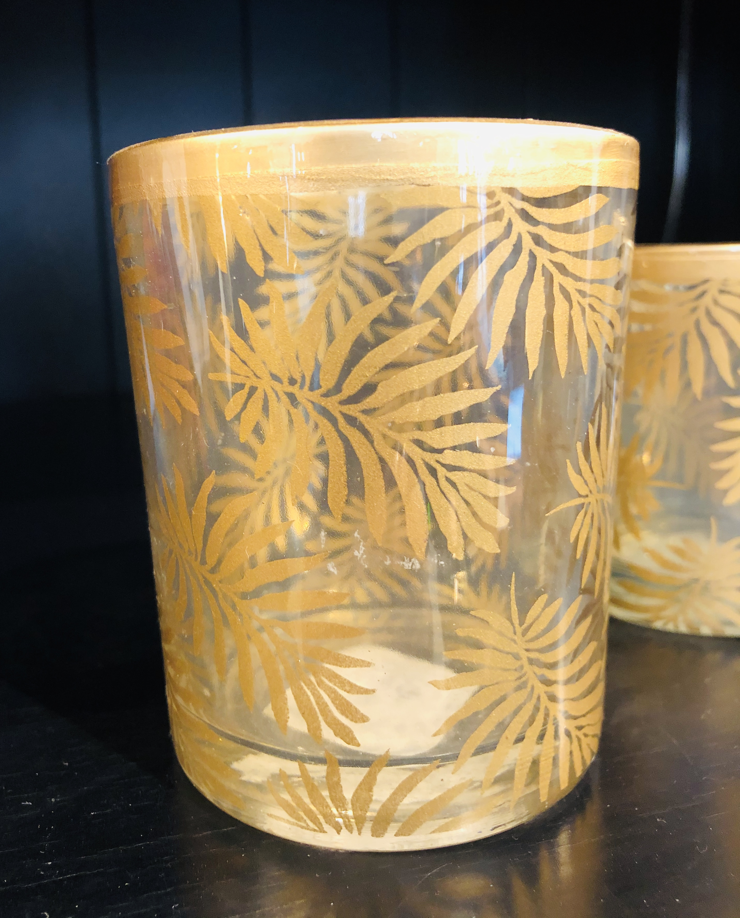 Palmun lehti  Kulta / Tuikku kynttilälle