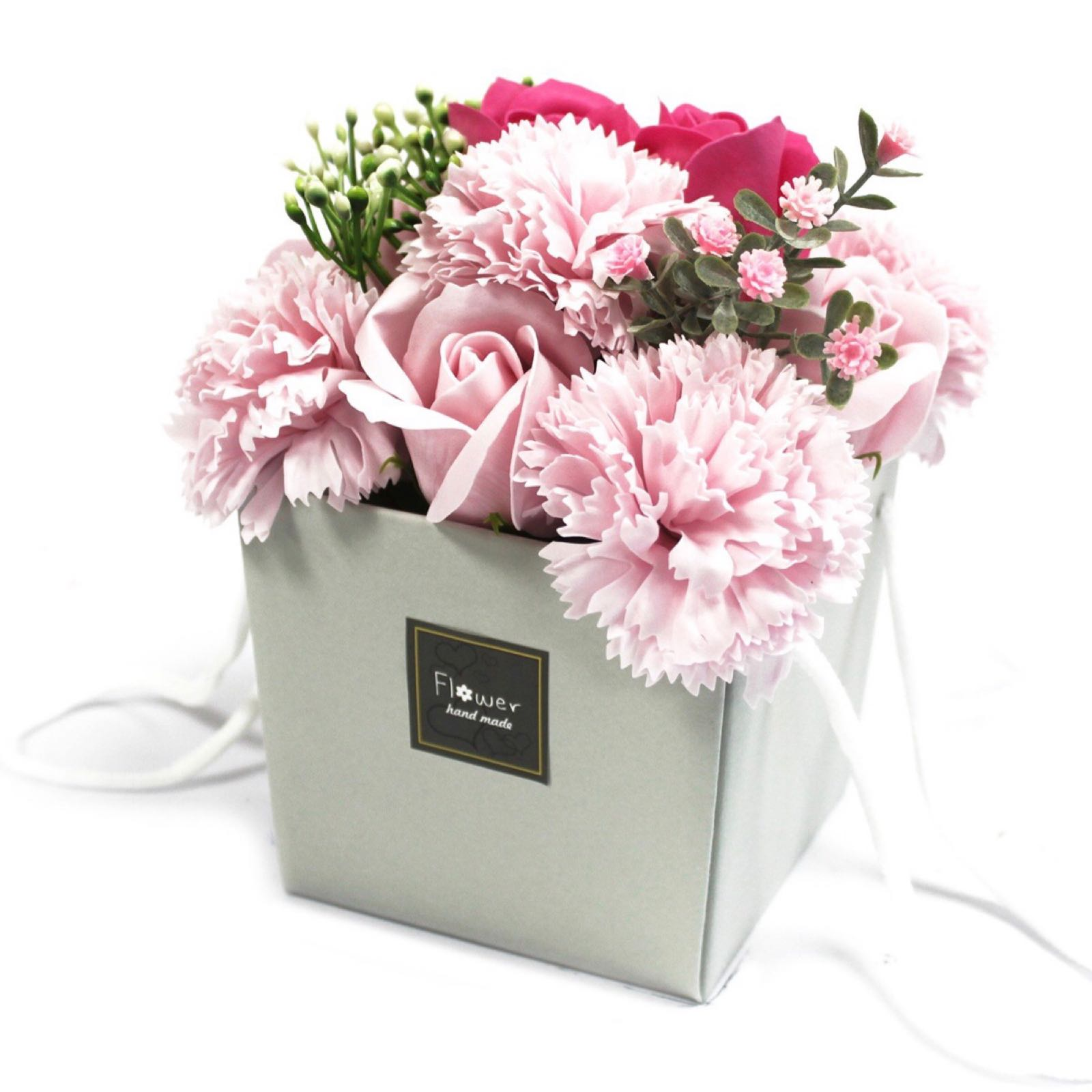 Soap Flower Bouquet - Pink Rose & Carnation (Was £13.50)