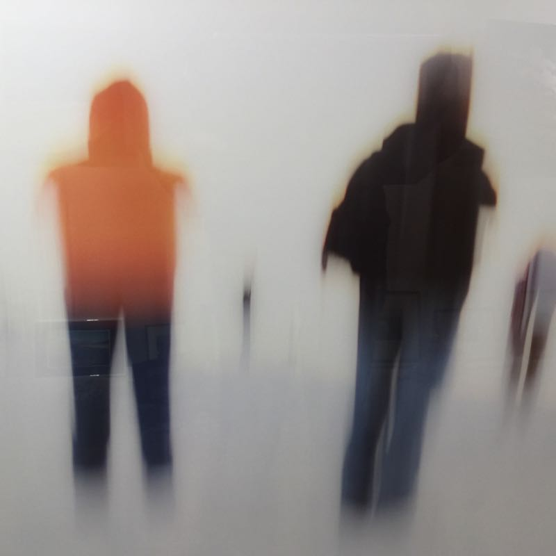 Bewegt Menschen am Strand Acryl 40x90