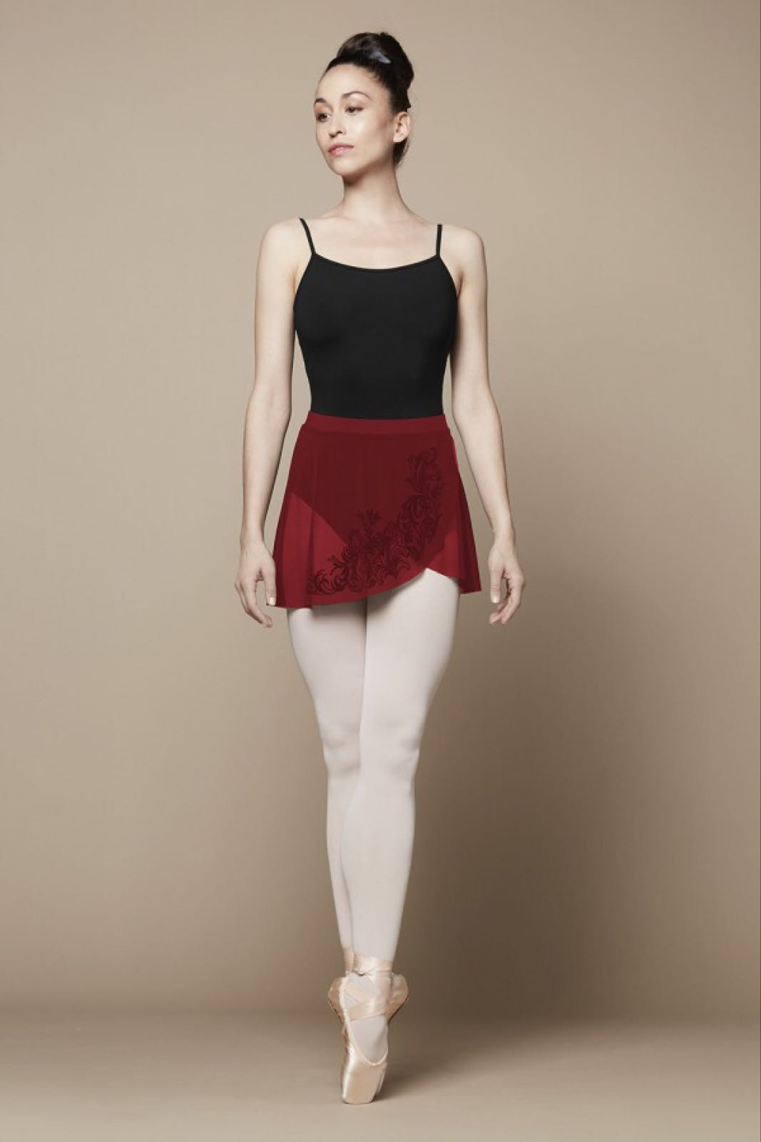 Bloch - Placement Flock Wrap Skirt - Red R9811