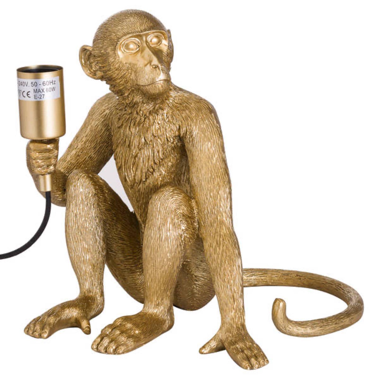 Gold monkey lamp  23cm x 30cm