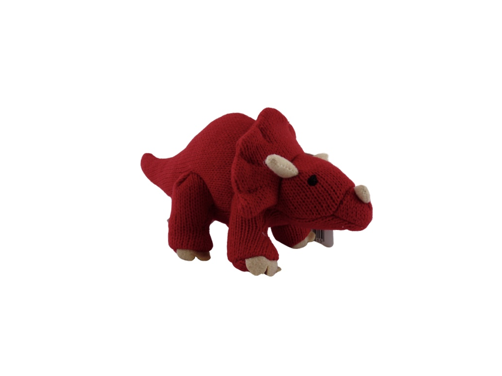 Dinosaur Rattle Triceratops Red