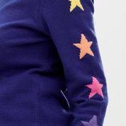NEW Sugarhill Brighton Stacey Jumper - Rainbow Star Sleeve Cobalt Blue