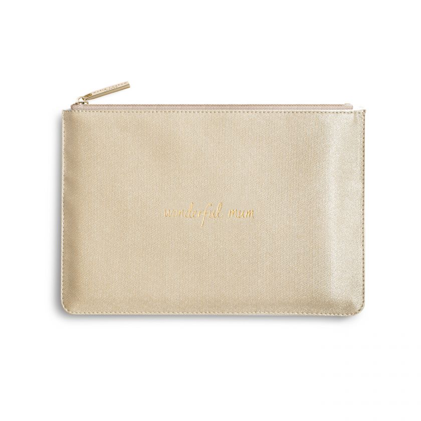 Katie Loxton Perfect Pouch - 'Wonderful Mum' Shiny Gold