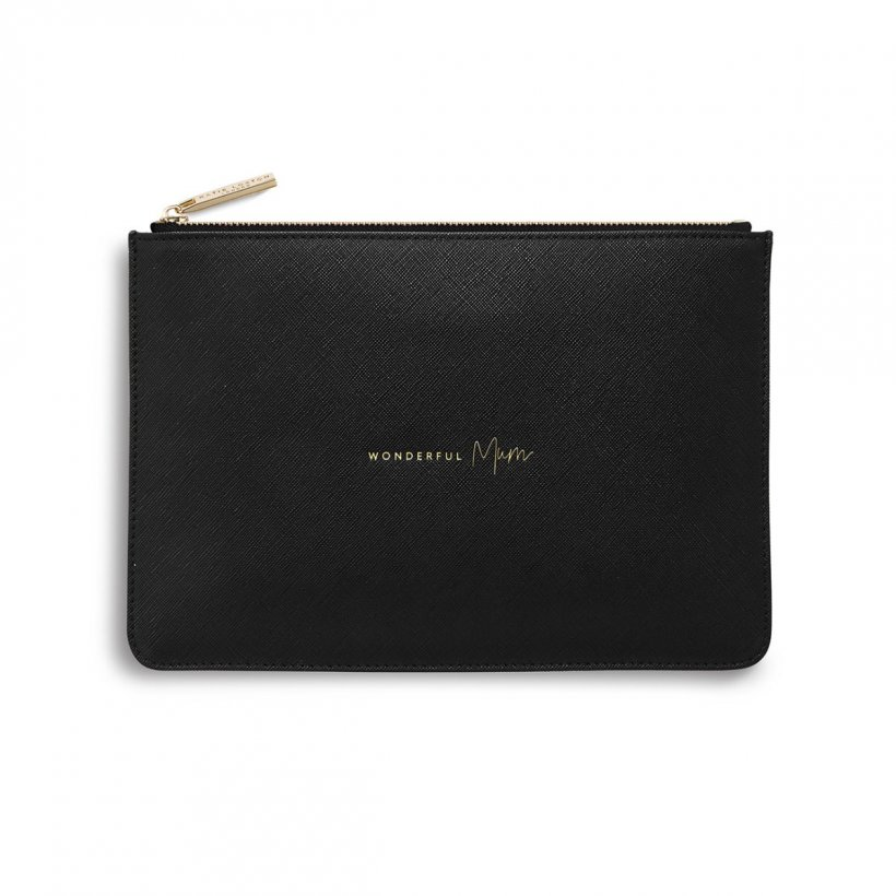Katie Loxton Perfect Pouch - 'Wonderful Mum' Black
