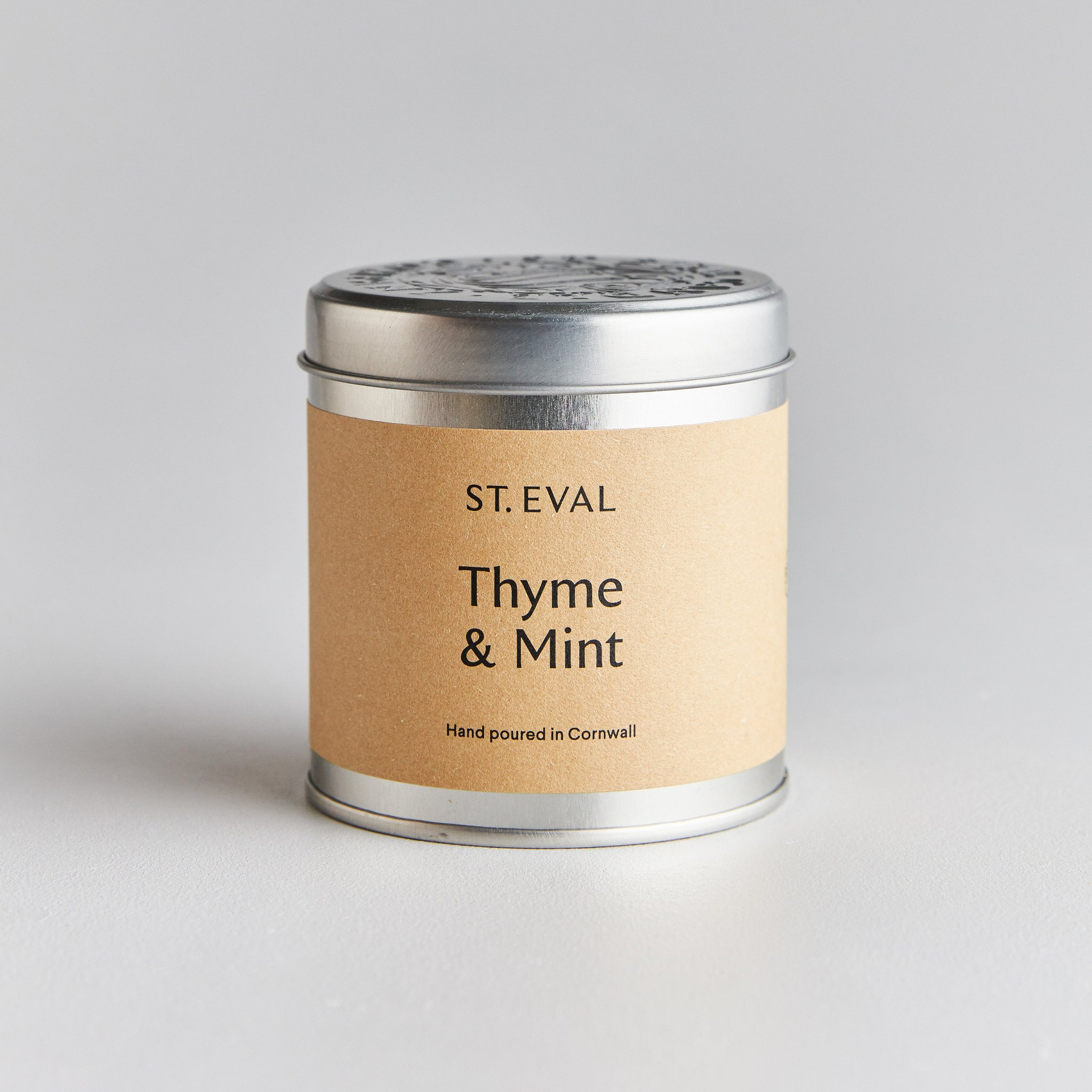 St Eval Candle Tin - Thyme & Mint