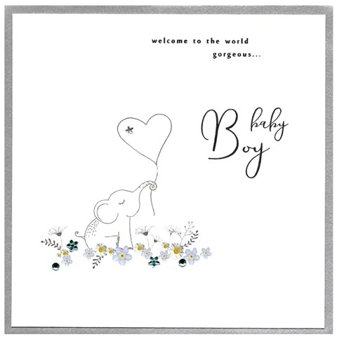 Card Baby Boy - Elephant - CAitch P146
