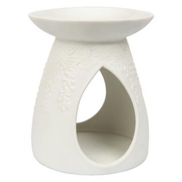 Wax Melt Warmer - Ceramic Tall White Vine