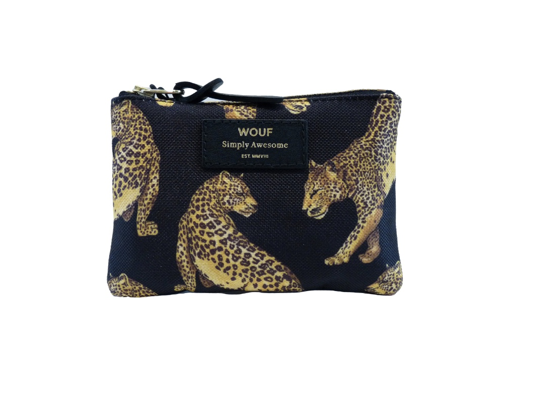 Wouf Pouch - Black Leopard Small