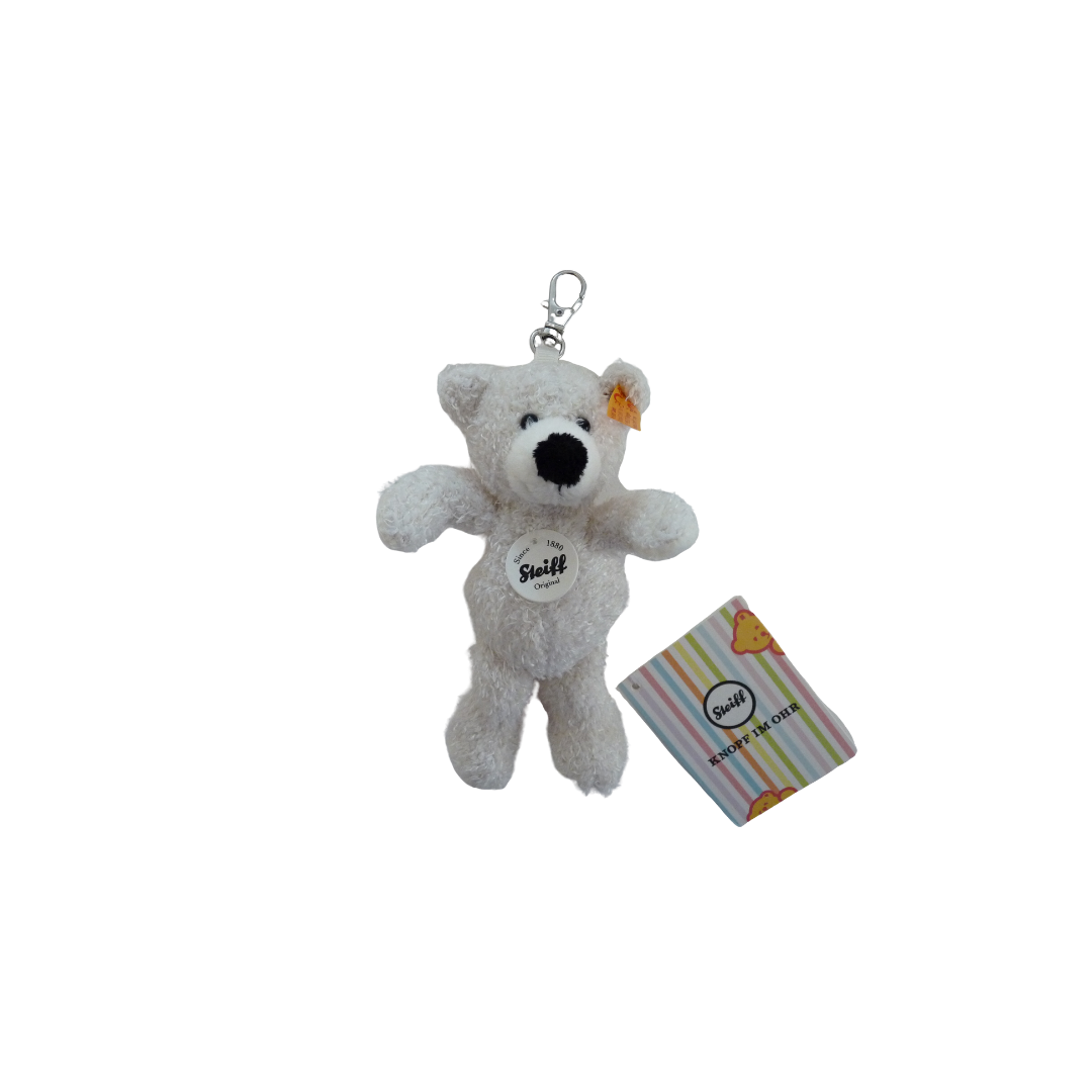 Steiff Teddy Bear - Key Charm Lotte White