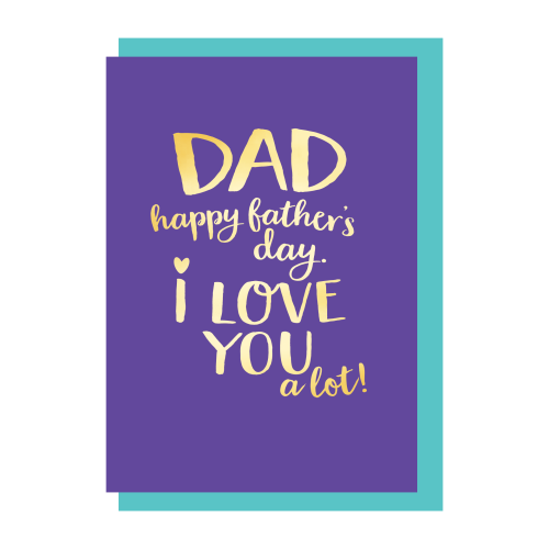 Card FD Bluebell - Dad I Love You a Lot DA064
