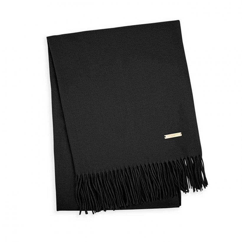 Katie Loxton Scarf - Wrapped Up in Love Thick Plain Black in Gift Box