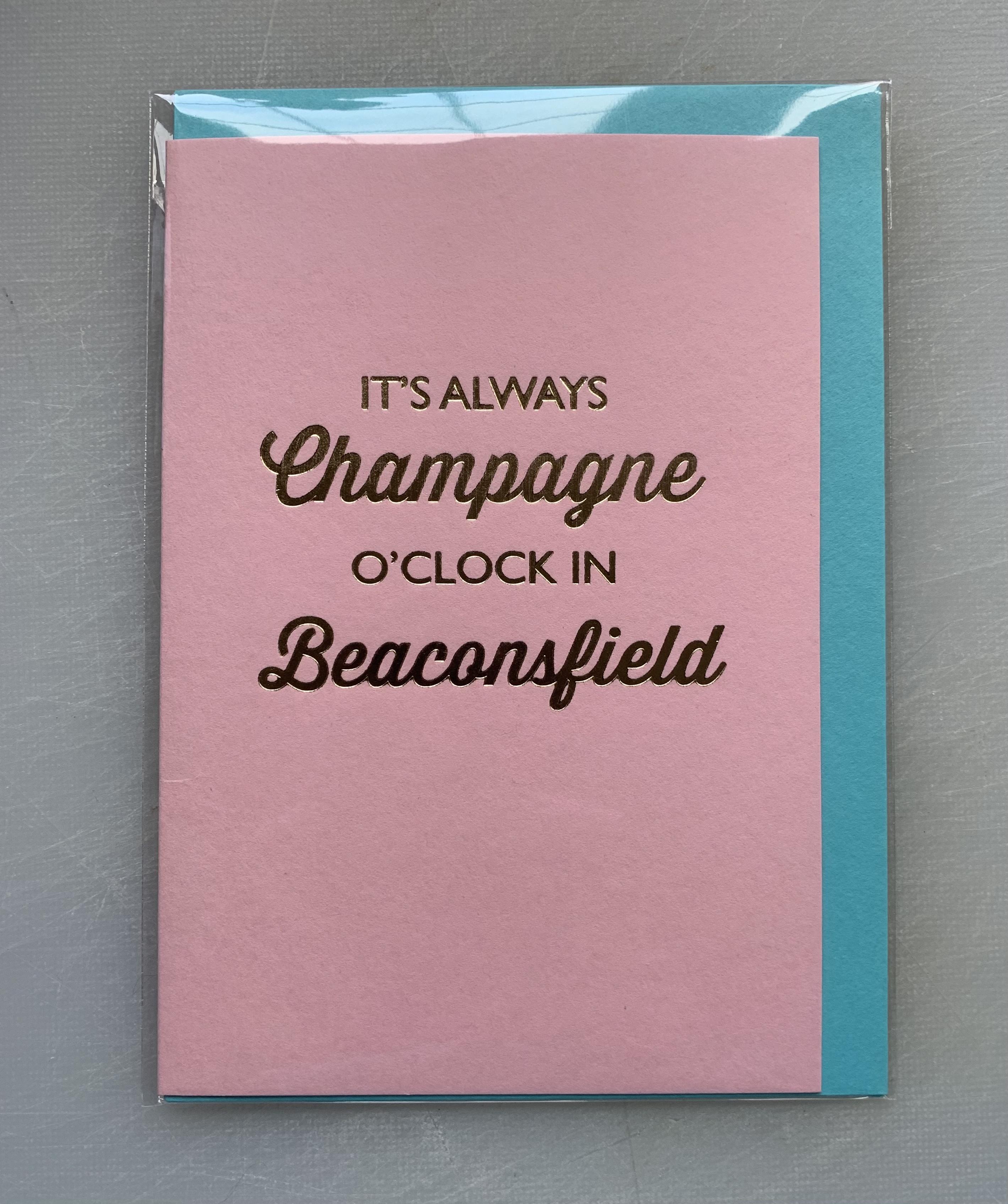 Card Female Bluebell - Champagne O'Clock D243