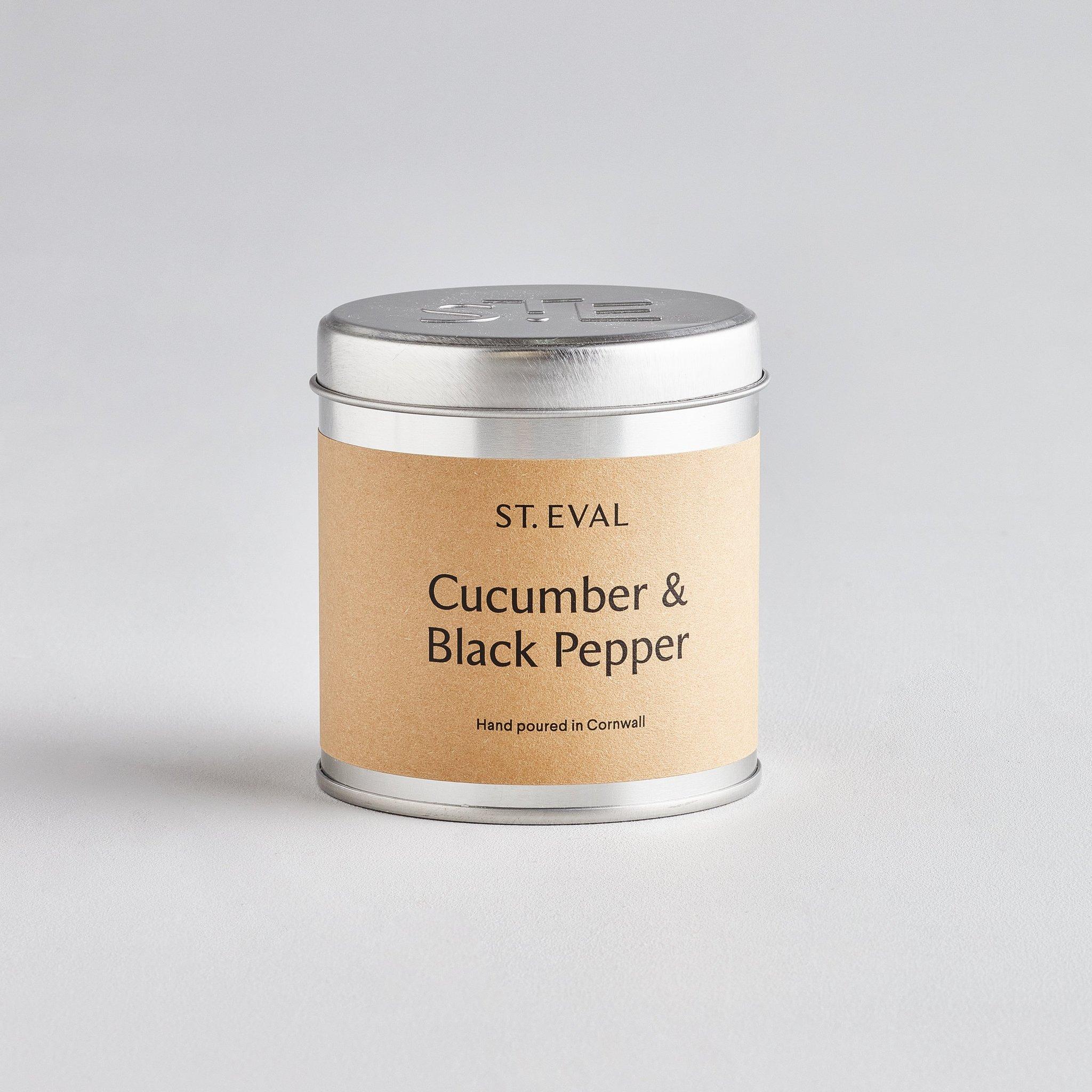 St Eval Candle Tin - Cucumber & Black Pepper