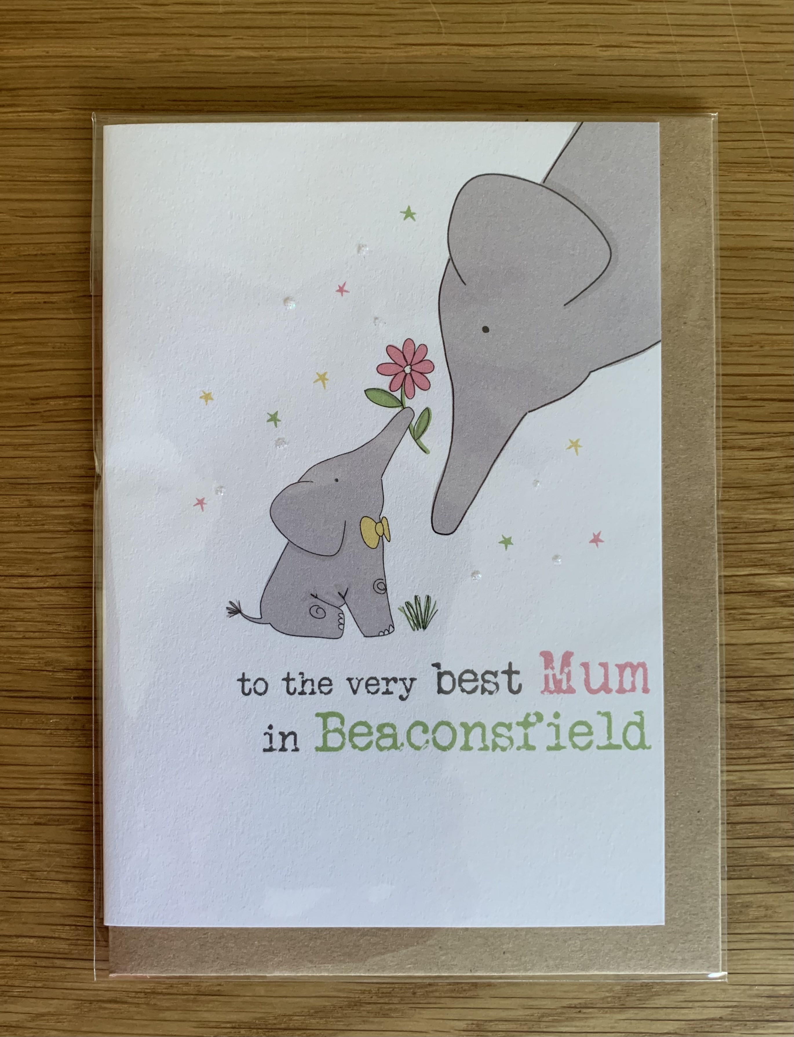 Card Mother's Day Dandelion - Best Mum in Beaconsfield 731