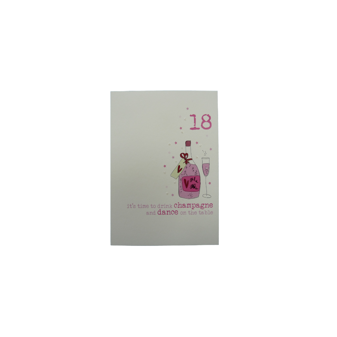 Card Age 18 Female - Champagne - Dandelion 161-18