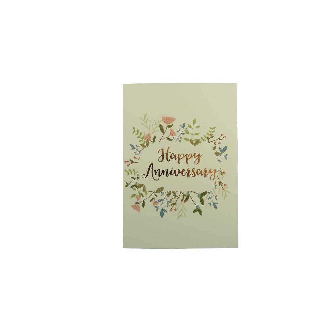 Card Anniversary Dandelion - Happy Anniversary Floral F2316
