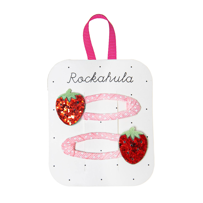 Rockahula Strawberry Glitter Clips
