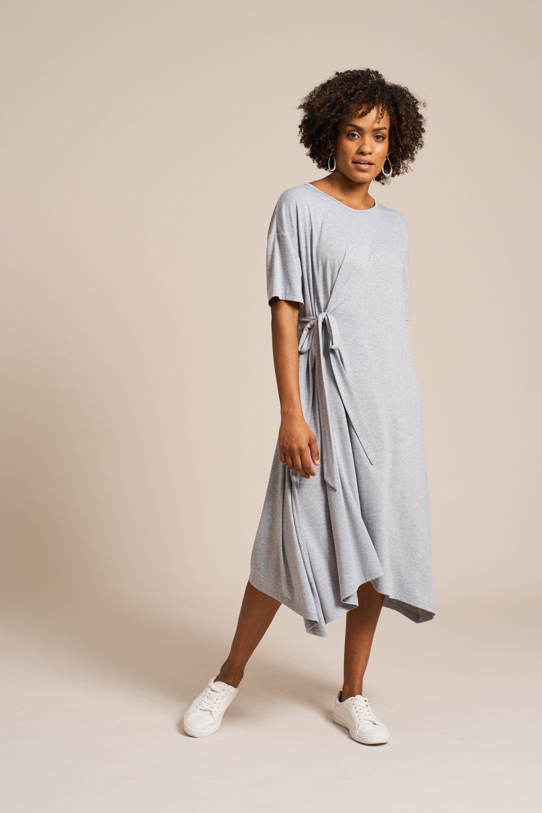 SALE Eb&Ive Oprah Dress - Grey Marle WAS £55