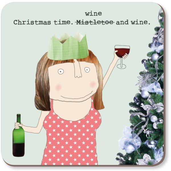 Coaster Rosie - Christmas Wine & Wine 021