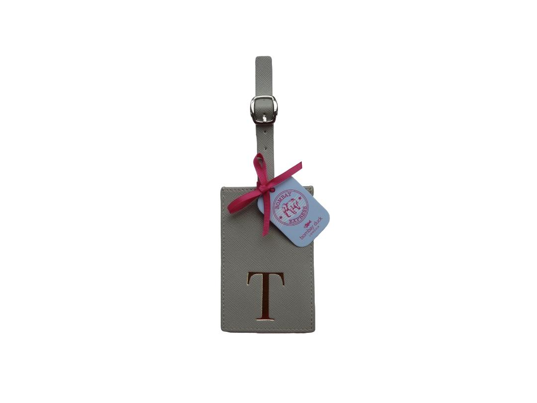 Bombay Duck Alphabet Luggage Tag - T