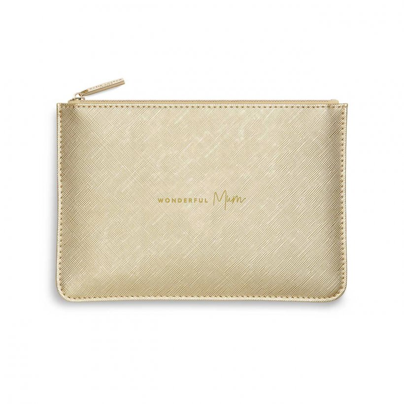 Katie Loxton Perfect Pouch - 'Wonderful Mum' Gold *NEW*