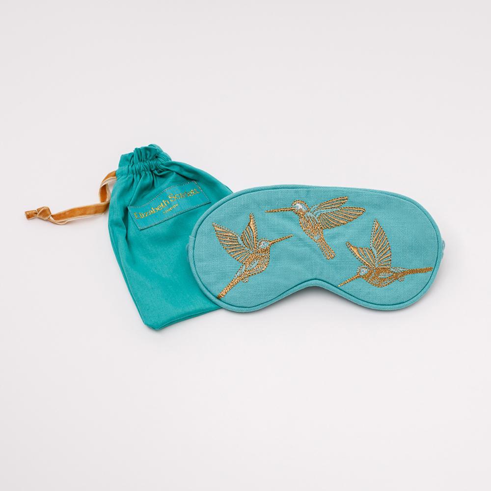Elizabeth Scarlett - Eye Mask Hummingbird Turquoise